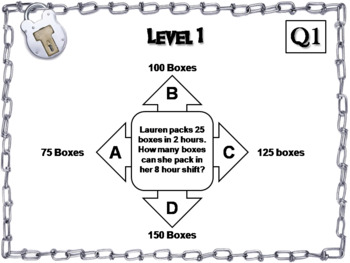 Proportions Word Problems Game: Escape Room Math Activity