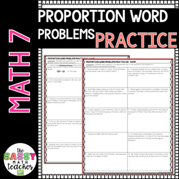 Proportions Word Problems Practice WKU