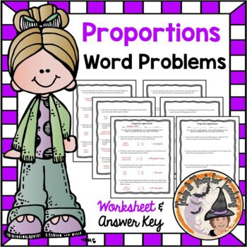 Proportions Word Problems Practice Worksheet Proportionality