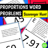 Proportions Word Problems Scavenger Hunt