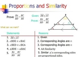 Proportions and Parallel Lines in Triangles Similarity (PP)