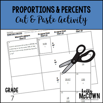 Proportions and Percents Cut & Paste Activity