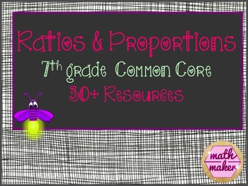 Proportions and Ratios 7th Grade Math Bundle ~ 30+ Resources