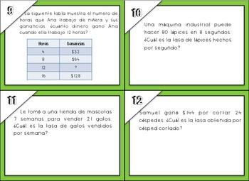 Proportions and Ratios in Spanish / Proporciones