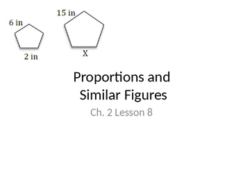 Proportions and Similar Figures Powerpoint