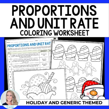 Proportions and Unit Rate Coloring Worksheet by Lindsay Perro ...