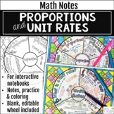 Proportions and Unit Rates Math Wheels