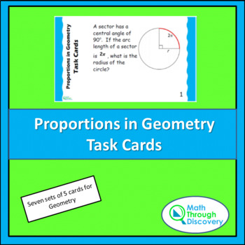 Geometry:  Proportions in Geometry Task Cards