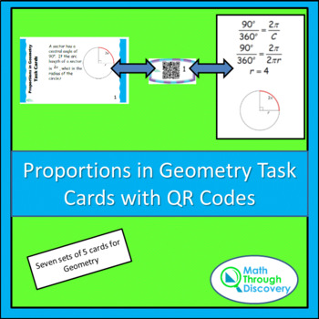 Geometry:  Proportions in Geometry Task Cards with QR Codes
