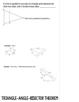 Proportions in Triangles Flipbook