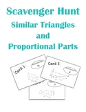 Proportions in Triangles and Parallel Lines Scavenger Hunt Activity