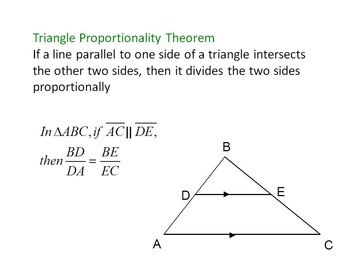 Proportions in triangles