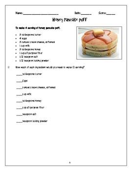 Proportions through baking