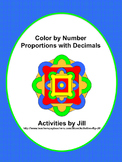 Proportions with Decimals Color by Number