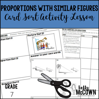Proportions with Similar Figures Card Sort Activity Lesson