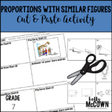 Proportions with Similar Figures Cut & Paste Activity
