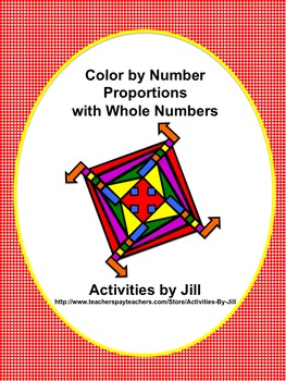Proportions with Whole Numbers Color by Number