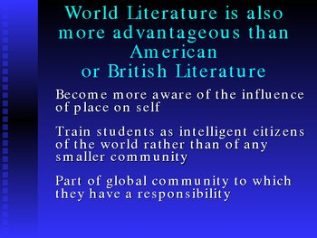 Proposal for the creation of a high school World Literature course