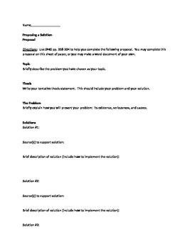 proposing a solution essay by leslie petrie  teachers pay teachers