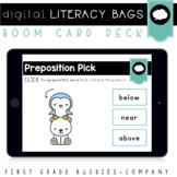 Preposition Pick Digital Literacy Center | Language and Grammar | Boom Cards
