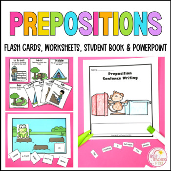 Prepositional Language Flash Cards Geography mapping