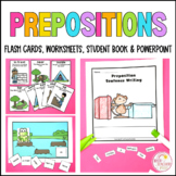 Prepositional Language Flash Cards Geography mapping groun