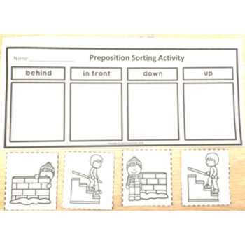 Prepositional Language Writing Tasks Geography mapping