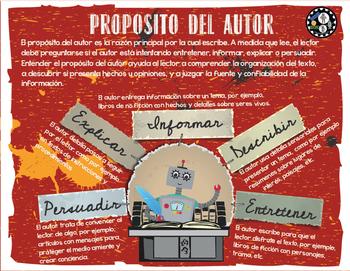 Proposito del Autor Cartel Educativo