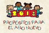 Propósitos de Año Nuevo 2018 / New Year Resolutions 2018 in Spanish + Banner