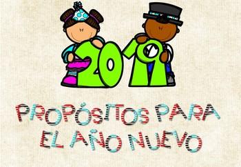 Propósitos de Año Nuevo 2019 / New Year Resolutions 2019 in Spanish + Banner