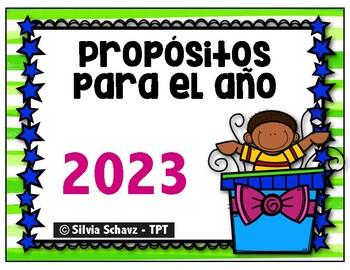 Propósitos para el año 2018 -  Actividades en español