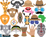 Props Africa  - Clip Art Digital Files Personal Commercial Use cod262