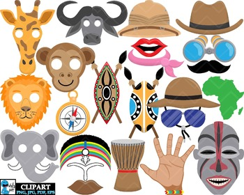Props Africa  - Clip Art Digital Files Personal Commercial