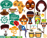 Props Africa Safari Amazon clipart wilderness mask Booth Party indian totem 189s
