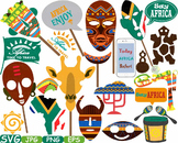 Props Africa Safari Amazon clipart wilderness mask Booth Party indian totem 190s