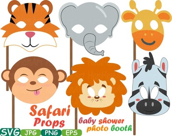 Props Africa Safari Amazon clipart wilderness mask Booth Party indian totem 203s