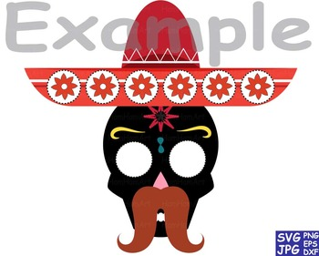 Props Fiesta Mexico Bunting Cutting SVG Clip art back party food skull taco -50S