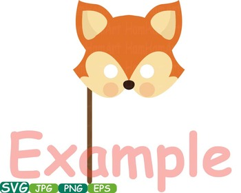 Props Forest Animals faces Woodland wood bear clip art animal deer fox farm 228S
