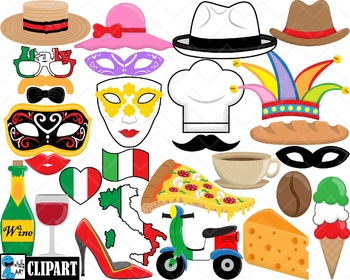 Props Italy Ver.1 - Clip Art Digital Files Personal Commer
