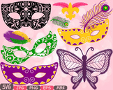 Props Mask Mardi Gras Costume Party Photo Booth Butterfly Halloween clipart 13p