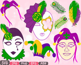 Props Mask Mardi Gras Masquerade Party Photo Booth Costume Halloween clipart 11p