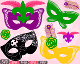 Props Mask Mardi Gras Masquerade Party Photo Booth Costume Halloween clipart 12p