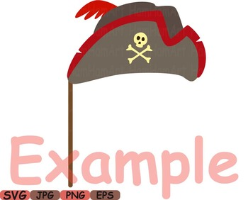 Props Pirates Pirate clip art school costume halloween gun beard card party 187s
