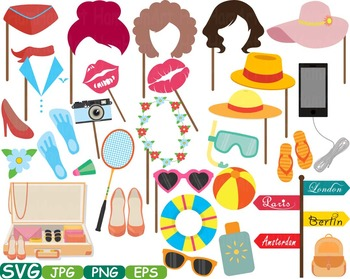 Props Travel clipart mask Booth Party Holidays vacations s