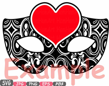 Props Valentine's Day Mask clipart Party Photo Booth heart Cupid Bow love  -14p