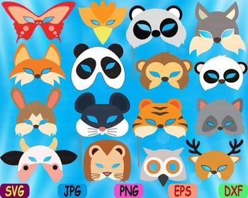 Props circus Animals Forest Safari woodland Clip art SVG decoration kid mask 76S