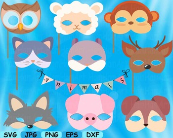 Props circus Animals Forest Safari woodland Clip art SVG decoration mask -154S
