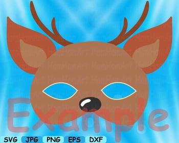 Props circus Animals Forest Safari woodland Clip art SVG decoration mask -154S