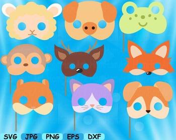 Props circus Animals Forest Safari woodland Clip art SVG decoration mask -155S