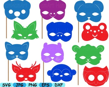 Props circus Animals Forest Safari woodland Clip art SVG decoration mask -174s